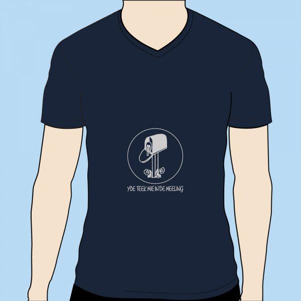 Basic V-hals T-shirt (M) Deep Navy art.1901